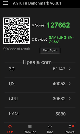 Galaxy S7 edge antutu benchmark