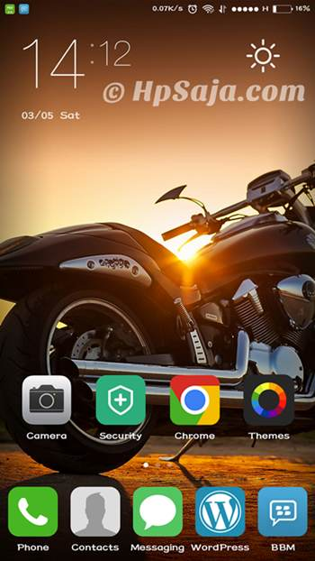 home screen redmi note 2 prime