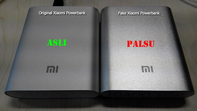 power bank xiaomi palsu dan asli