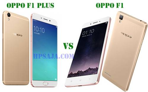 Bentuk body Oppo-F1-vs-f1-plus