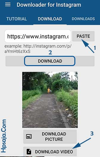 download video instagram lewat android