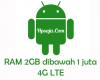 hp android ram 2gb jaringan 4g murah