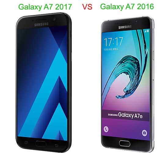 desain galaxy A7 2016 VS A7 2017