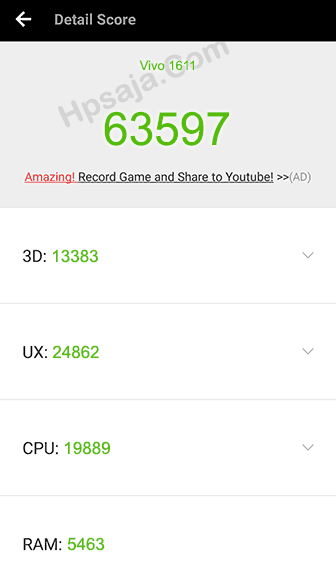 SKor antutu benchmark vivo v5 plus