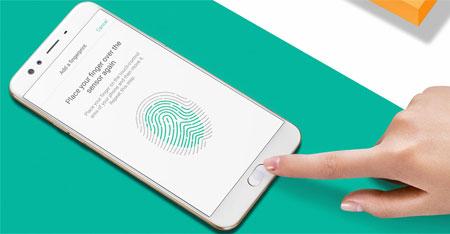 sensor fingerprint Oppo F3