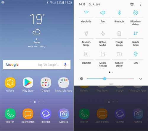 Tampilan UI Samsung J5 pro