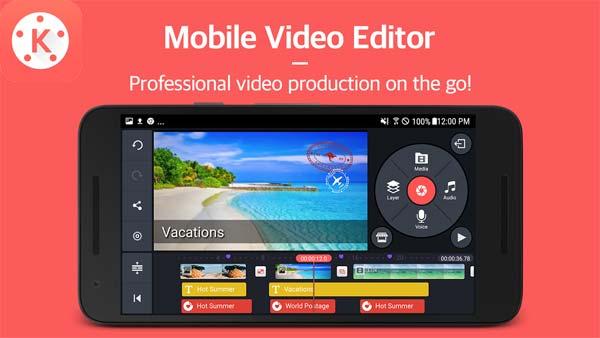 Aplikasi video editor terbaik kinemaster pro