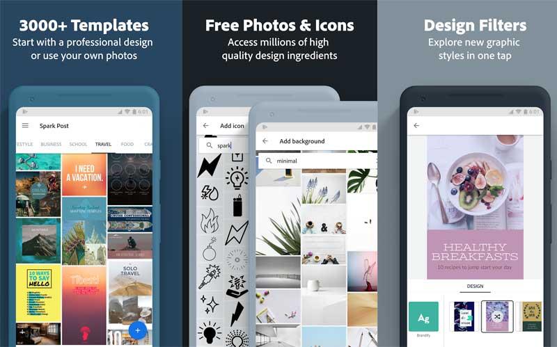 Spark Post aplikasi edit foto terbaru dari adobe