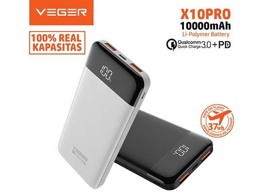 Powerbank Veger X10 Pro 10.000 mAh