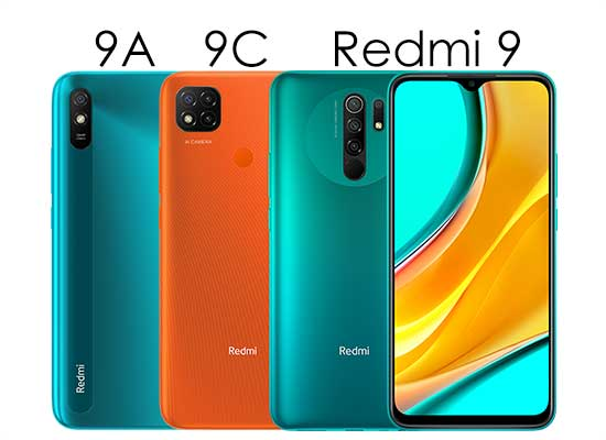 Perbedaan Desain redmi 9, redmi 9A dan redmi 9C