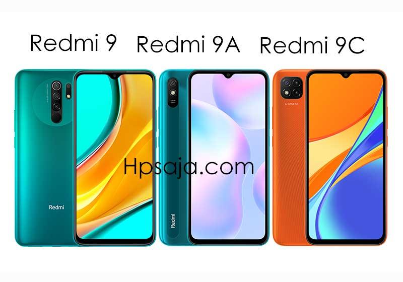 Perbedaan xiaomi redmi 9A, Redmi 9C dan Redmi 9