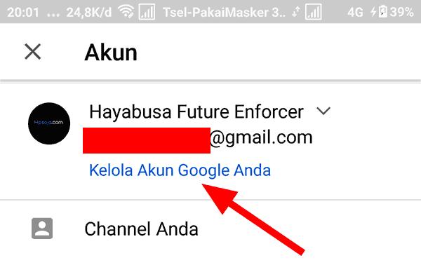 langkah kedua untuk mengganti foto profil youtube