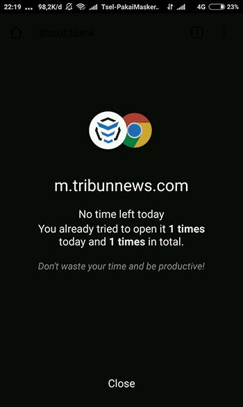 sukses blokir situs di google chrome android