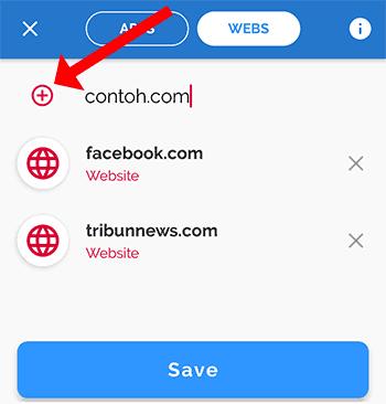 langkah ke 3 untuk blokir beberapa situs web di google chrome android