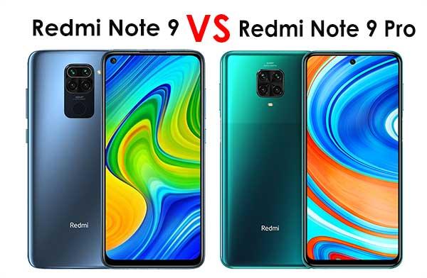 Perbedaan Desain redmi note 9 vs redmi note 9 pro