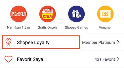 Langkah ke 2 Voucher gratis ongkir dari shopee loyalty