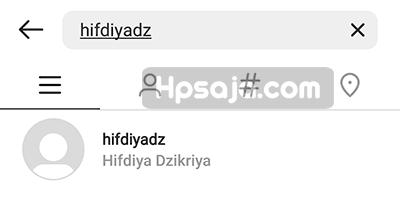 Hasil pencarian akun IG yang di aktifkan kembali