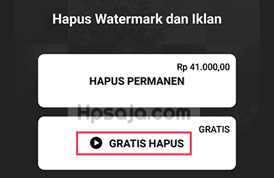 Langkah ke 2 untuk menghilangkan watermark inshot
