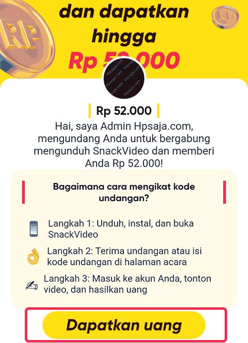 Gambar 1 untuk Hasilkan uang di snack video