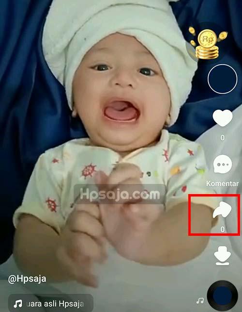 Gambar 2 untuk hapus video di aplikasi snack video
