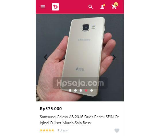 Samsung Galaxy A3 2016-bekas