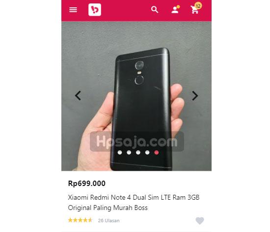 Xiaomi Redmi Note 4 bekas