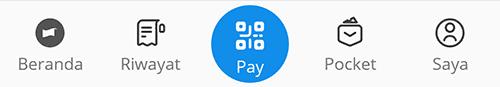 Pay DANA untuk scan kode QR