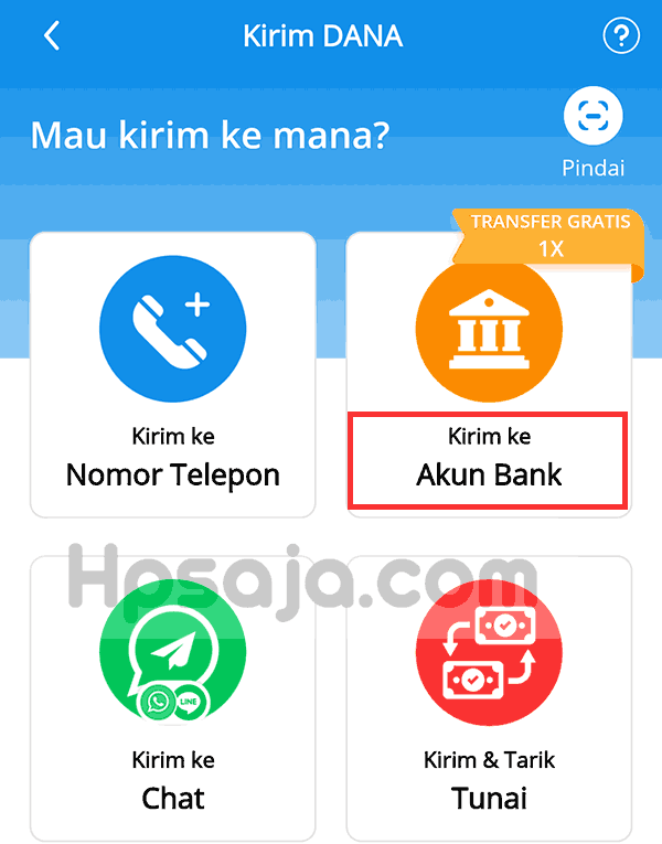 gambar 2 Transfer saldo DANA ke rekening bank