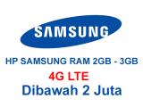 hp samsung RAM 2GB Jaringan 4G 1 jutaan